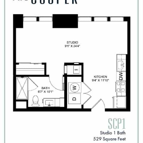 Studio Floor Plan The Cooper